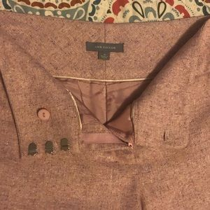 Ann Taylor Blush Lined Wool Pants